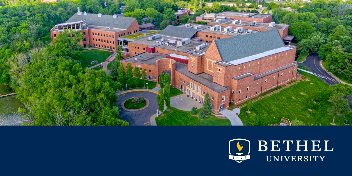 Aerial view of Bethel University campus