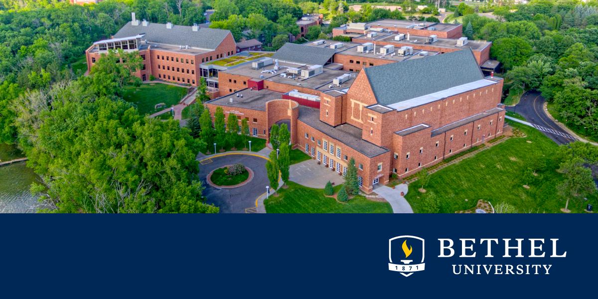 Aerial view of Bethel University campus