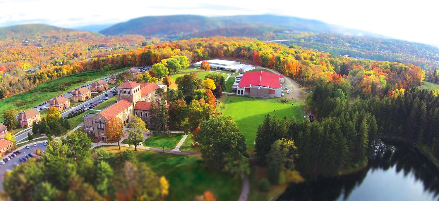 Aerial view of Clarks Summit University campus