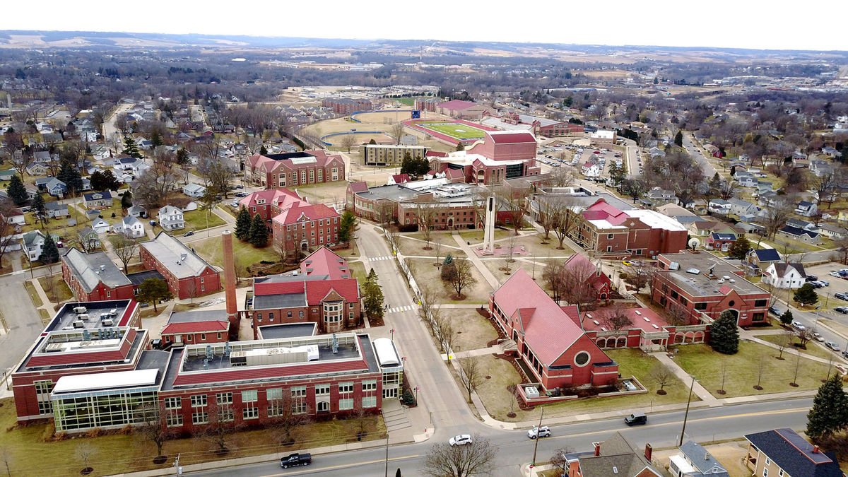 Aerial view of University of Dubuque Theological Seminary