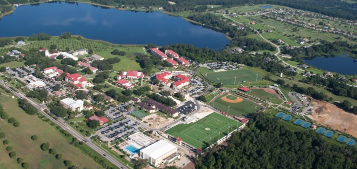 Aerial view of Saint Leo University campus