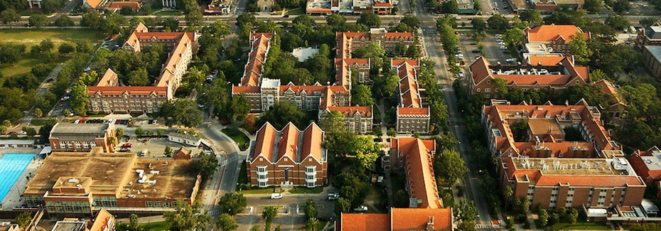 Arial view of University of Florida campus