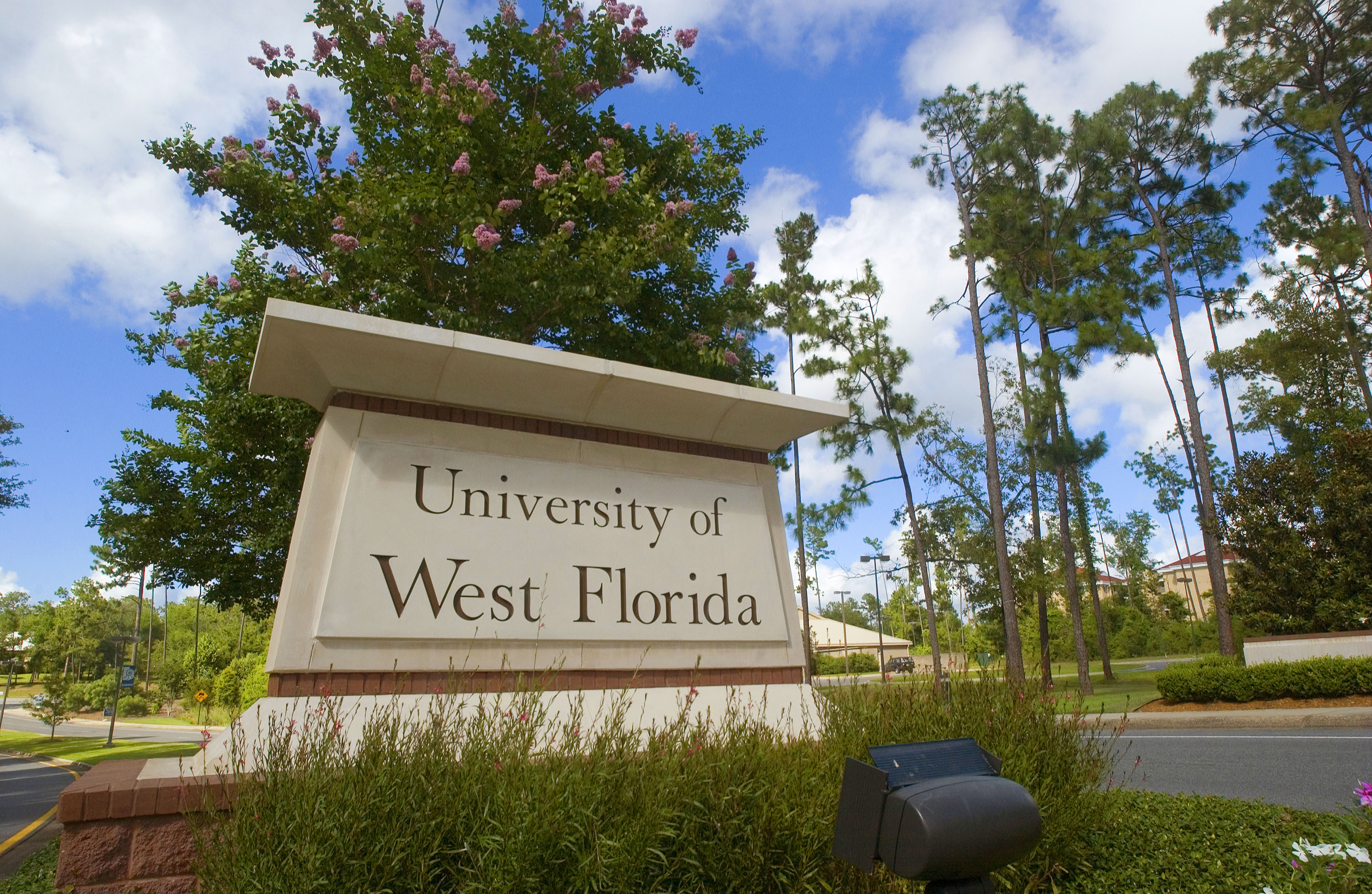 University of West Florida sign